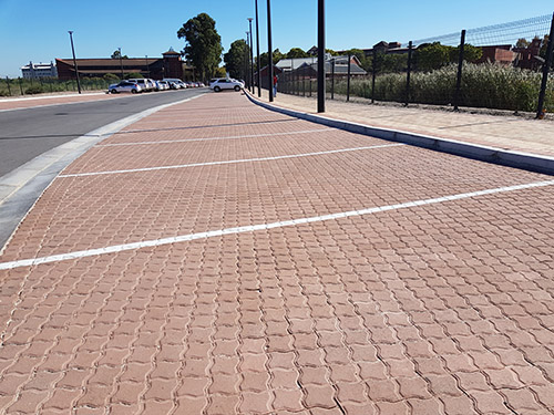 80mm Interlock Pavers - Colour: Terracotta